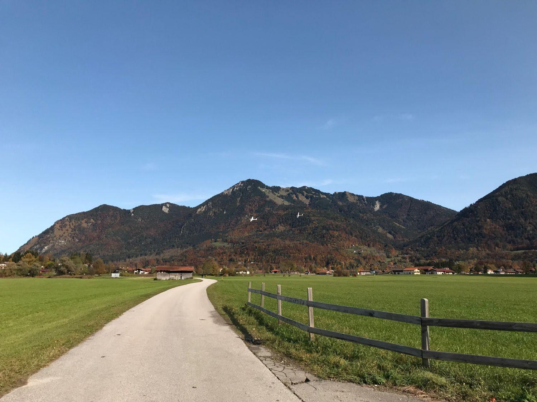Blick zur Alpen-Segelflugschule