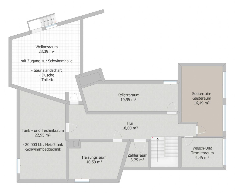 Grundriss: Untergeschoss