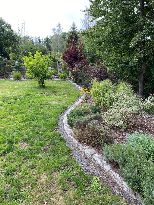 angelegtes Gartengrundstück